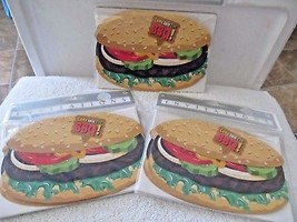 NIP 24 Amscan BBQ Hamburger w/ Fixin's Party Invitation Cards w/ Envelopes! - €10,67 EUR