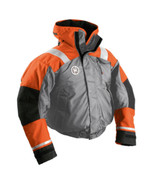 First Watch AB-1100 Flotation Bomber Jacket - Orange/Grey - X-Large - $242.50