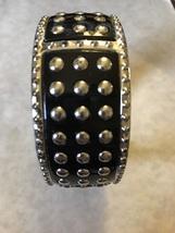 Black and Silver Studded Cuff Bracelet - $5.00