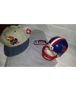 Kansas Jayhawks, Jo Jo White, Riddell Mini Helmet, Baseball fitted cap, ... - $13.99