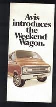 Avis Introduces the Weekend Wagon Brochure Dodge Sportsman Van 1970s - $11.58