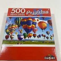"""PUZZLEBUG 18.25"""" X 11"""" Puzzle 500 Piece BALLOON TAKE-OFF ALBUQUERQUE - NEW - $10.37"""