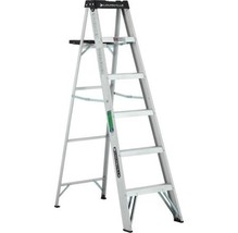 Louisville Ladder 6 ft Lightweight Aluminum Step Ladder Household Painti... - $57.71