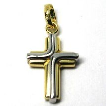 Cross Pendant White Gold and White 18k 750 Stylized Made in Italy Jewel image 4
