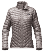 The North Face  WOMEN'S THERMOBALL™ FULL ZIP JACKET, METALLIC SILVER / TNF BLACK - $129.99
