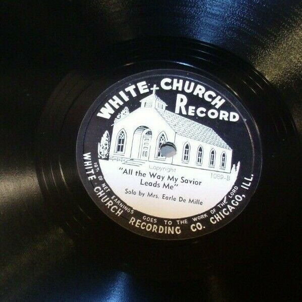White Church Record # 1089 AA-191720D Vintage Collectible