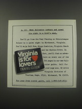 1991 Virginia Tourism Ad - p. 12: Meet Saltwater cowboys and spend the n... - $14.99