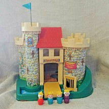 Vintage 1970's Fisher Price Play Family Castle #993 With Queen Prince Princess - $98.50