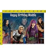Descendants 2 Birthday Party Edible Frosting Image 1/2 sheet Cake Topper - $18.99