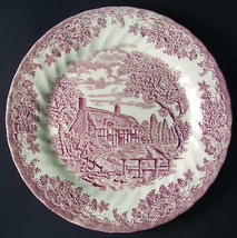 The Brook Pink Porcelain Dinner Plate  (Columbia, Malaysia) by Churchill - $15.99