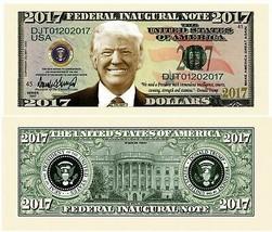 Pack of 25 Donald Trump President Money Dollar Bills 2017 Federal Inaugu... - $8.90