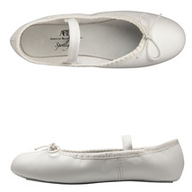 Spotlights Ballet Shoes ABT Youth 13.5 Girls White Leather Full Sole Dance NIB - $18.33