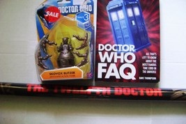 Dr. Who Skovox Blitzer Action Figure Wave 3 / Dr.Who Fact Book & 12th Dr Poster - $14.00