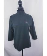 Fila Sport size medium black 3/4 ziper  Athletic shirt Top women's  3/4 ... - $14.24