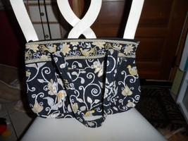 Vera Bradley large Betsy handbag in retired Yellow Bird pattern   - $38.00