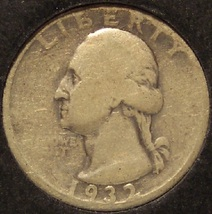 1932-D Silver Washington Quarter KEY DATE #0910 - $114.99