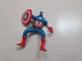 "Captain America , Vinyl , 2 1/4"" Tall , 2 1/2"" Wide ,  Moveable Arms - $24.91"
