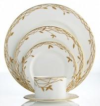 Kate Spade Primrose Hill 5 Piece Place Setting Dinnerware White/Gold New - $124.90