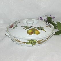 ROYAL WORCESTER EVESHAM GOLD ROUND ENTREE DISH CASSEROLE BAKING SERVING ... - $25.13