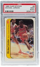 Michael Jordan Chicago Bulls 1986 Fleer #8 Sticker Card Mint 9 OC PSA 141 - $3,491.99