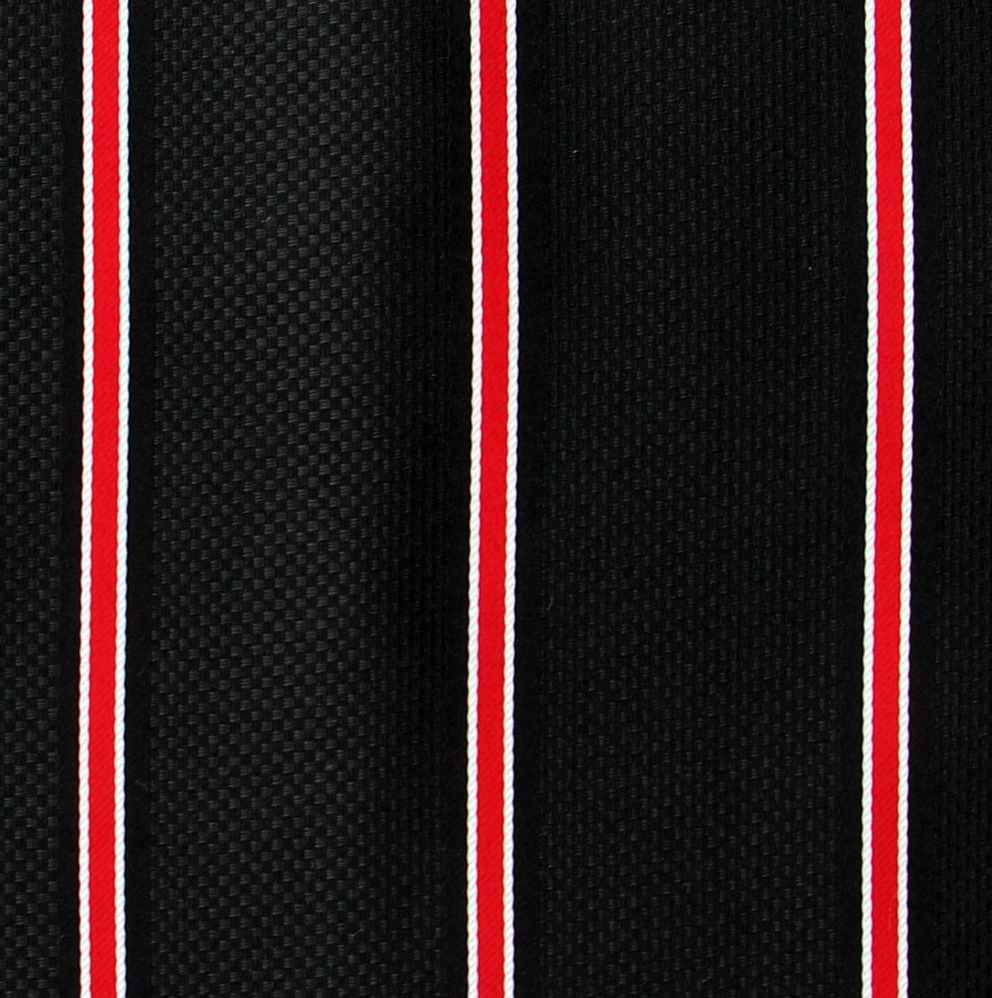 Men's Striped Pocket Square Dress Handkerchief Suit Fashion Black & Red Hanky  image 2