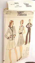 Vogue 8643 Misses Half Size Cardigan Top Skirt Pants Size 16 1/2 Bust 39 VTG U/C - $21.53