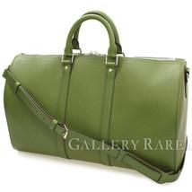 LOUIS VUITTON Keepall Bandouliere 45 Vert Boston Bag M85120 Authentic 48... - $2,554.92