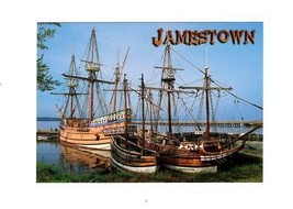POSTCARD-JAMESTOWN HARBOR- The Settlement Of JAMESTOWN-FIRST Day Issue BK10 - $2.91