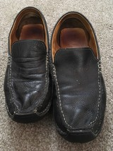 Mens Cole Haan  Black Leather Slip On Loafers, Size 9.5M - $24.99
