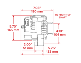 GM AD244 Style High Output 220 Amp Alternator Black 4 Pin LS image 9