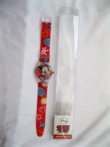 "Official Disney Mickey 9"" Analog Red Watch with printed Band in PVC Box-... - $23.75"