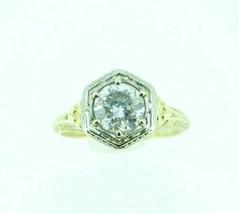 14k Yellow Gold 1.10 Carat Genuine Natural Diamond Filigree Ring (#J3673) - $4,925.00