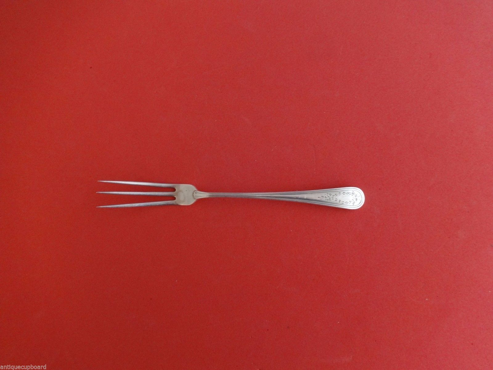 Primary image for Commonwealth Engraved by Watson Sterling Silver Lemon Fork 5 3/4""