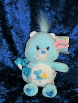 "Care Bear 2002 Baby Tugs Stuffed Plush Bean Bag 7"" Blue Diaper Star NEW - $19.79"