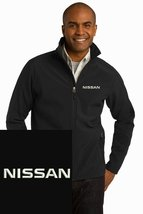 NISSAN Black Embroidered Port Authority Core Soft Shell Unisex Jacket NEW - $39.99