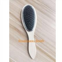 Wooden Handle Hair Comb Steel needle Teeth Massage Hair Brush Detangling - $6.99