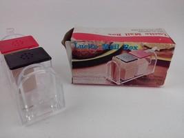 Lucite Mail Box Salt N Pepper and Toothpick Holder Set - $22.99