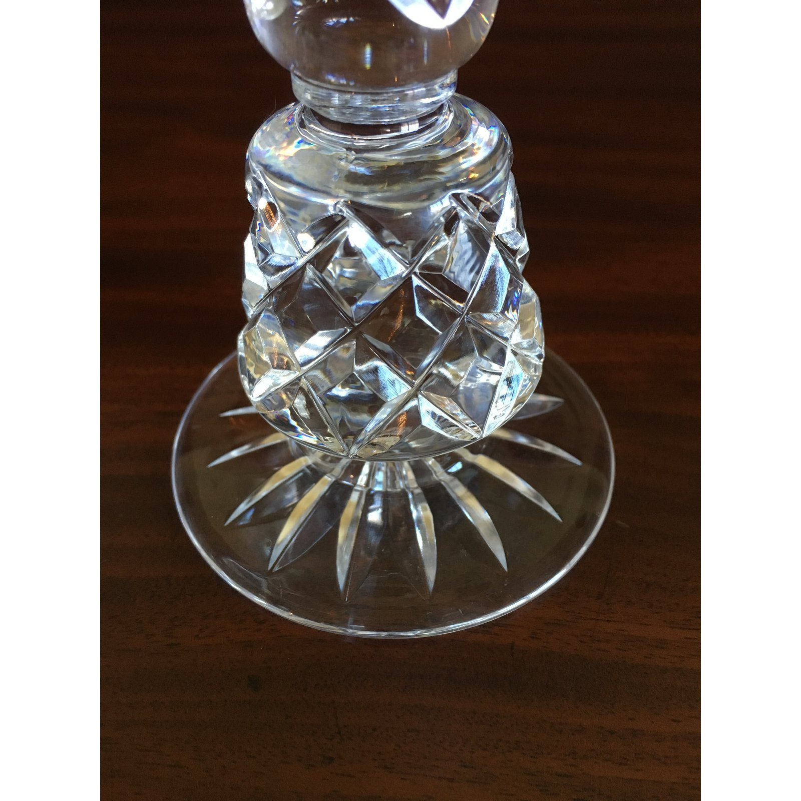 Vintage Crystal Candle Holders Lenox Charleston Pattern - a Pair