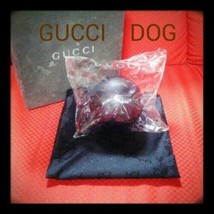Gucci dog ball toy Black pet supplies with pouch luxury brand - $152.69