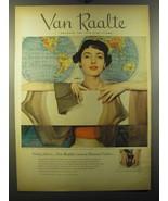 1950 Van Raalte Stockings Ad - Going places.. Van Raalte's newest Forecast  - $14.99