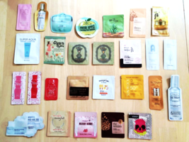 Korean Skincare Sample Bag  [100-Piece Lot] for Face Body Hair Skin Care... - $120.00