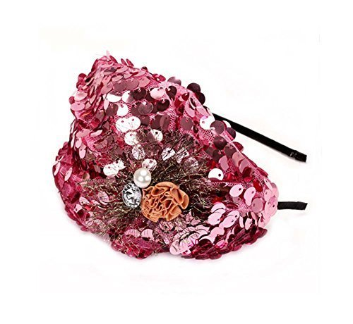 Elegant Headband Fashion Hairband Wide Headwrap Hair Accessories, Pink