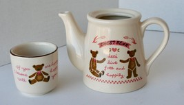 Adorable Miniature SWEET BEAR Pitcher and Tea Cup Ceramic Set - $9.89