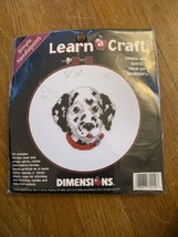 """Dimensions Learn a Craft Simple Needlepoint Kit #72410 """"Devoted Dalmatian"""" 1997 - $8.23"""