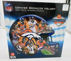 Denver Broncos Football Helmet Shaped NFL 500 Pc Jigsaw Puzzle by Master... - $8.12