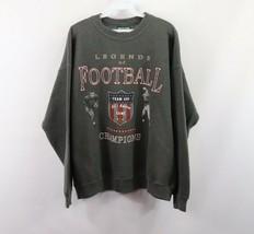 Vintage 90s American Eagle Mens XL Football Spell Out Crewneck Sweatshir... - $35.59