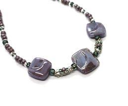 Necklace Antique Murrina Corner CO990A04 with Murano Glass Purple Choker image 3