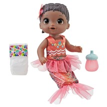Baby Alive Shimmer N Splash Mermaid Baby Doll, Black Hair - $32.07