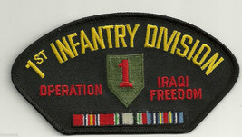 ARMY 1ST INFANTRY DIVISION OEF IRAQI FREEDOM RIBBON  EMBROIDERED MILITAR... - $15.33