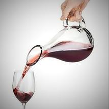 Glass Duck Wine Decanter Aerator Pourer ~ Long Neck ~ Handle ~ 50 oz Cap... - $38.32